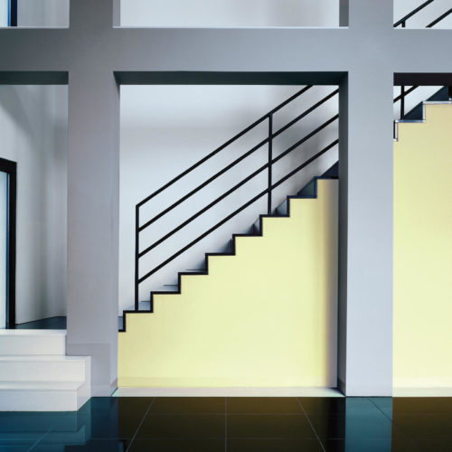 ljusgrul trappa industri högblankt golv